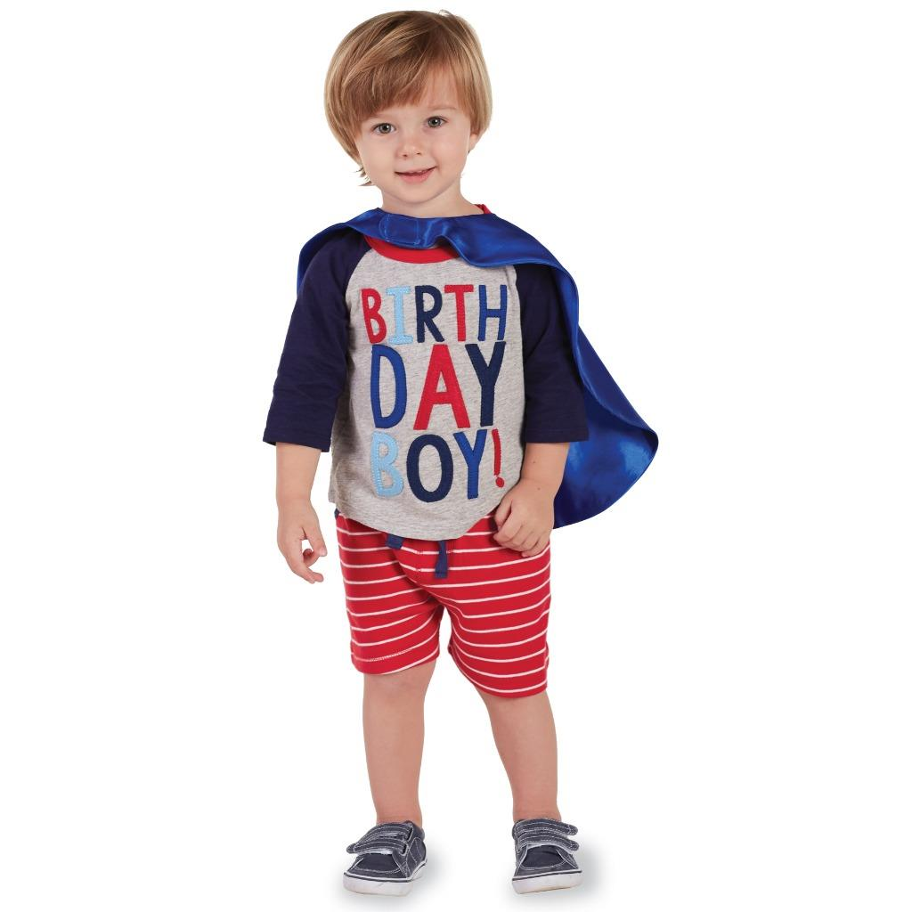 Details About Mud Pie Birthday Boy Collection T Shirt Top And Super Hero Cape Set
