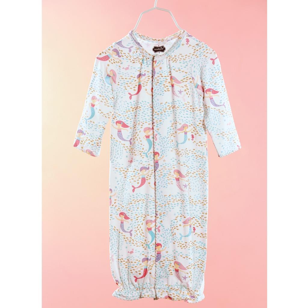 Mud Pie Mermaid Collection Print Convertible Baby Sleep Gown   eBay