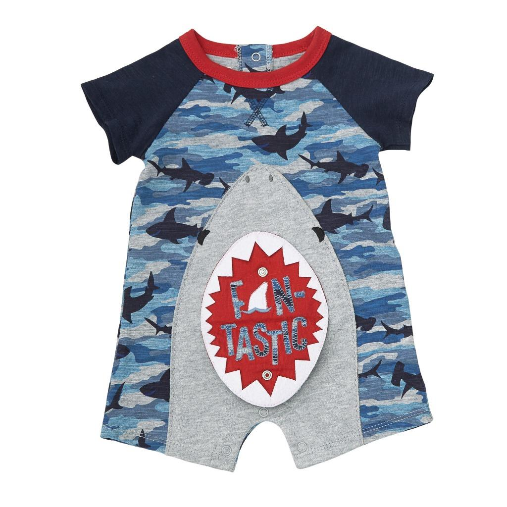 Mud Pie Shark Tank Camo Print Swim Cover-Up