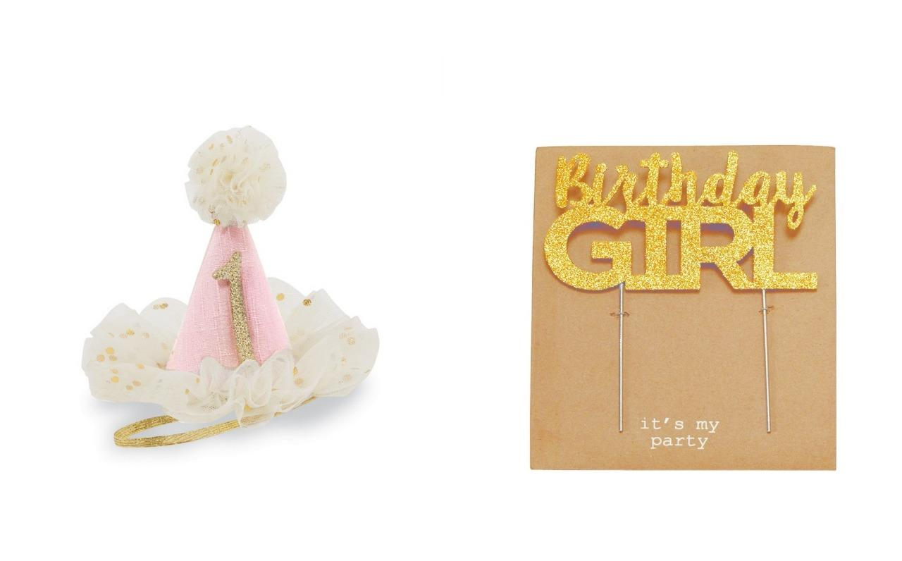 Details About Mud Pie Princess Collection 1 Hat Birthday Girl Cake Topper And Candles Set