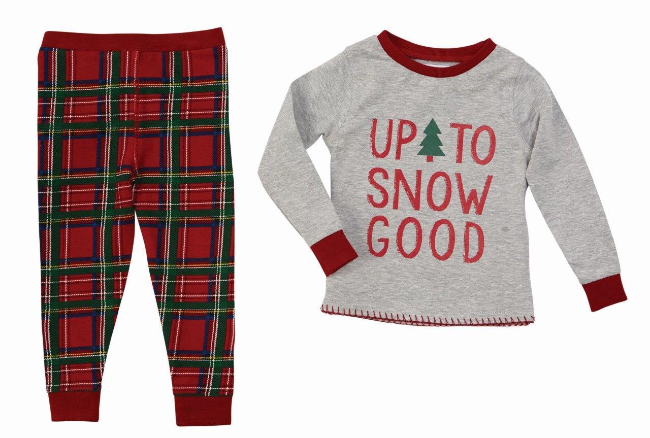 Mud Pie Kids Tartan Red Plaid Christmas Boys Pajamas \