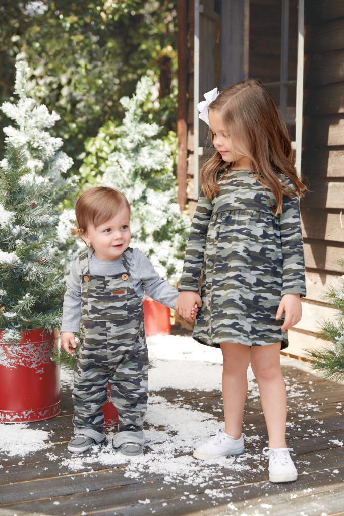 Mud Pie Kids Girls Camo Camouflage Print Casual Dress