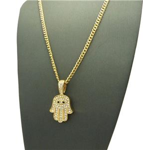 Iced out mini hamsa hand evil eye cuban link gold chain pendant we accept paypal payments mozeypictures Choice Image
