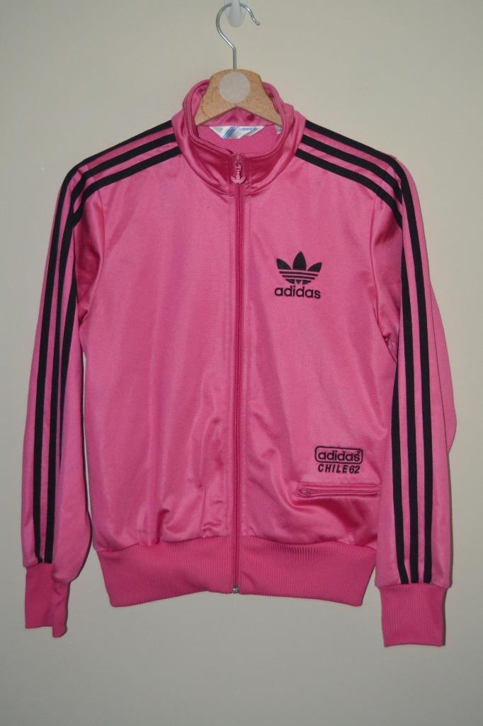 WOMEN'S ADIDAS CHILE 62 Jacket Black Retro Tracksuit Top