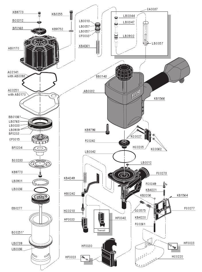 Senco Scn60 Scn65 Scn65xp Framing Nailer O Ring Parts