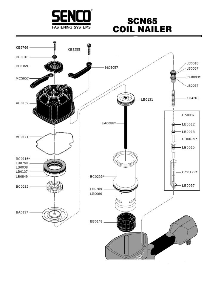 Senco LB0768 Seal O-Ring