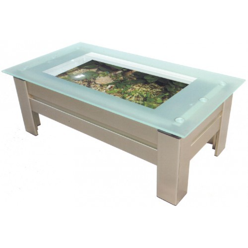 Black Coffee Table Fish Tank: Coffee Table Aquarium Fish Tank With Built Filtration