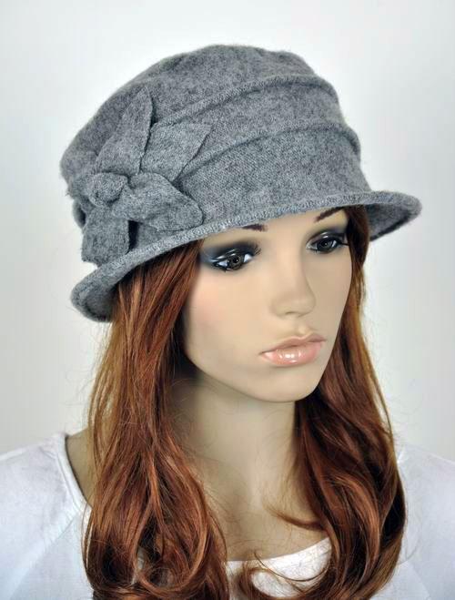 JM33 6-Leaf Flower Wool Elegant Lady Women s Warm Winter Hat Beanie Cap  GREY  3e5638555b2