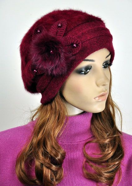 Jm39 Rabbit Fur Amp Wool Women S Winter Hat Beanie Cap Cute