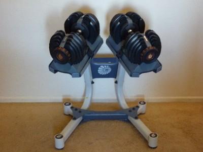 Nautilus Bowflex Selecttech 552 Adjustable Dumbbells 5 52 5 W Stand Ebay
