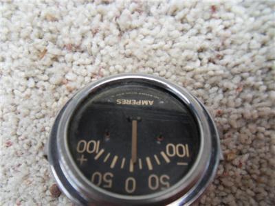 vintage stewart warner Amperes gauge 100 amps SW