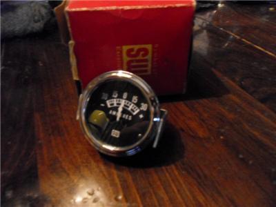 Vintage Stewart Warner Ammeter Gauge 30 Amps Hot Rod
