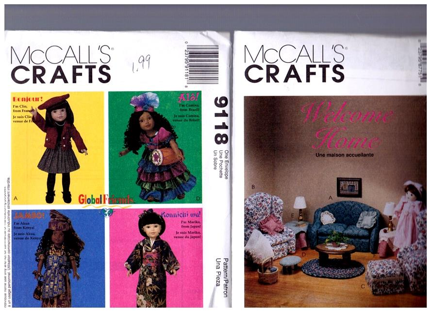 Marvelous Details About 2 Mccall S Patterns 8775 9118 Doll Furniture Clothes Fits 18 American Girl Download Free Architecture Designs Ferenbritishbridgeorg