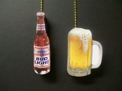 2 Bud Light Beer Bottle Mug Ceiling Fan Pull Pulls Ebay