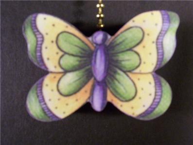 1 Butterfly Garden Ceiling Fan Pull Pulls Ebay