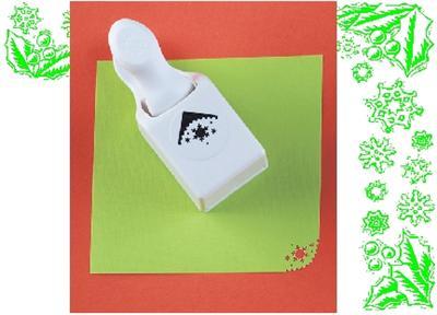 Martha stewart corner punch spider web or snowflake new ebay for Snowflake template martha stewart