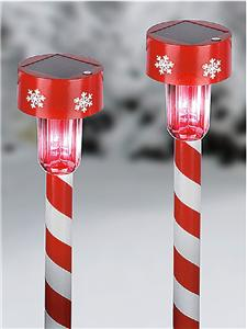 12 Christmas Holiday Candy Cane Amp Snowflakes Striped Solar