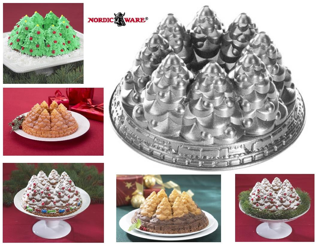 Nordicware Holiday Tree Bundt 10 Cup Snowy Pine Ring
