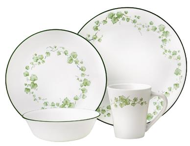 New Coupe Style Corelle 16 Pc Callaway Ivy Dinnerware Set