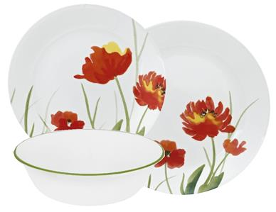 Thanks for shopping at Tarlton Place. Take a moment u0026 browse through the store. There may be something else that interests you.  sc 1 st  eBay & 12-pc Corelle KALYPSO DINNERWARE SET Plates Bowl Autumn Floral RED ...
