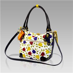21b400e9d3 Marino Orlandi Designer Handpainted Yellow Roses Leather Purse ...