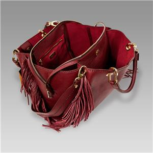 695c2effb5475 Plinio Visona Italian Designer Marsala Red Leather Purse Crossbody ...