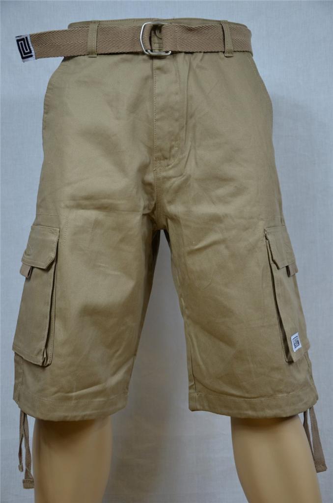 1 New Proclub Twill Cargo Short Pants Pro Club Color Waist