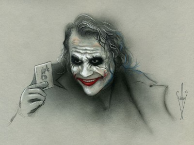Details About Joker Drawing 12 X 18 Heath Ledgerthe Dark Knight Rises Pencil Airbrush