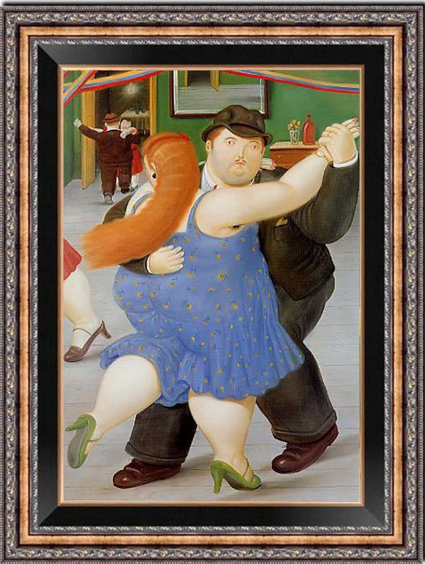 Details about Hand painted Oil painting Reproduction of Fernando Botero Fat dance on canvas