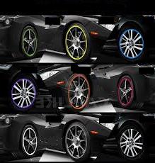 Green Alloy Wheel Protector Rim Trim Strips Rimblades Flex Fits Mercedes