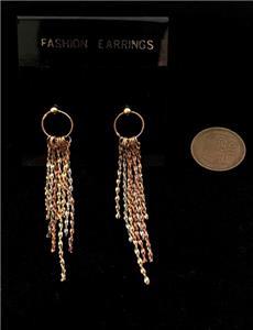 Vintage 7 x 8mm Enameled Brass Cloisonne Crown Post Earrings NBW