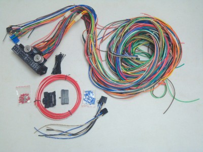 453207667_tp 12v 24 circuit 15 fuse street hot rat rod wiring harness wire kit Appliance Wiring Harness Terminals at bakdesigns.co