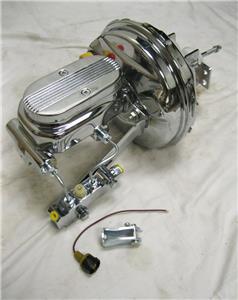 "1/"" Milled Master Cylinder Disc Disc Kit GTO GM 9/"" Chrome Power Brake Booster"