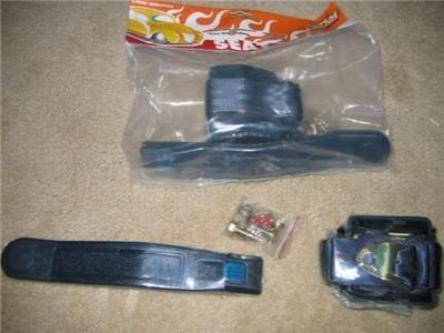Universal Retractable 3 Point Charcoal Seat Belts PAIR Street Rod Seatbelt