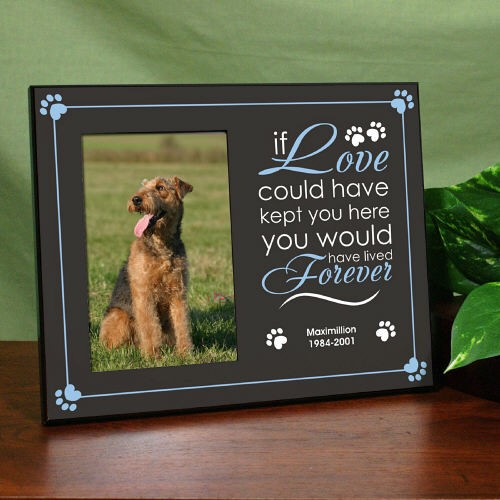 Personalized Dog Memorial Frame Printed If Love Could Save