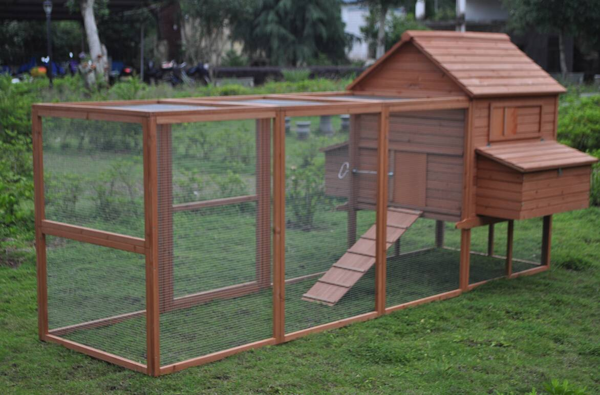 deluxe 12 u0027 wood chicken coop backyard hen house 6 nesting box