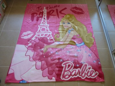 barbie polar fleece throw rug blanket fashion fairytale. Black Bedroom Furniture Sets. Home Design Ideas