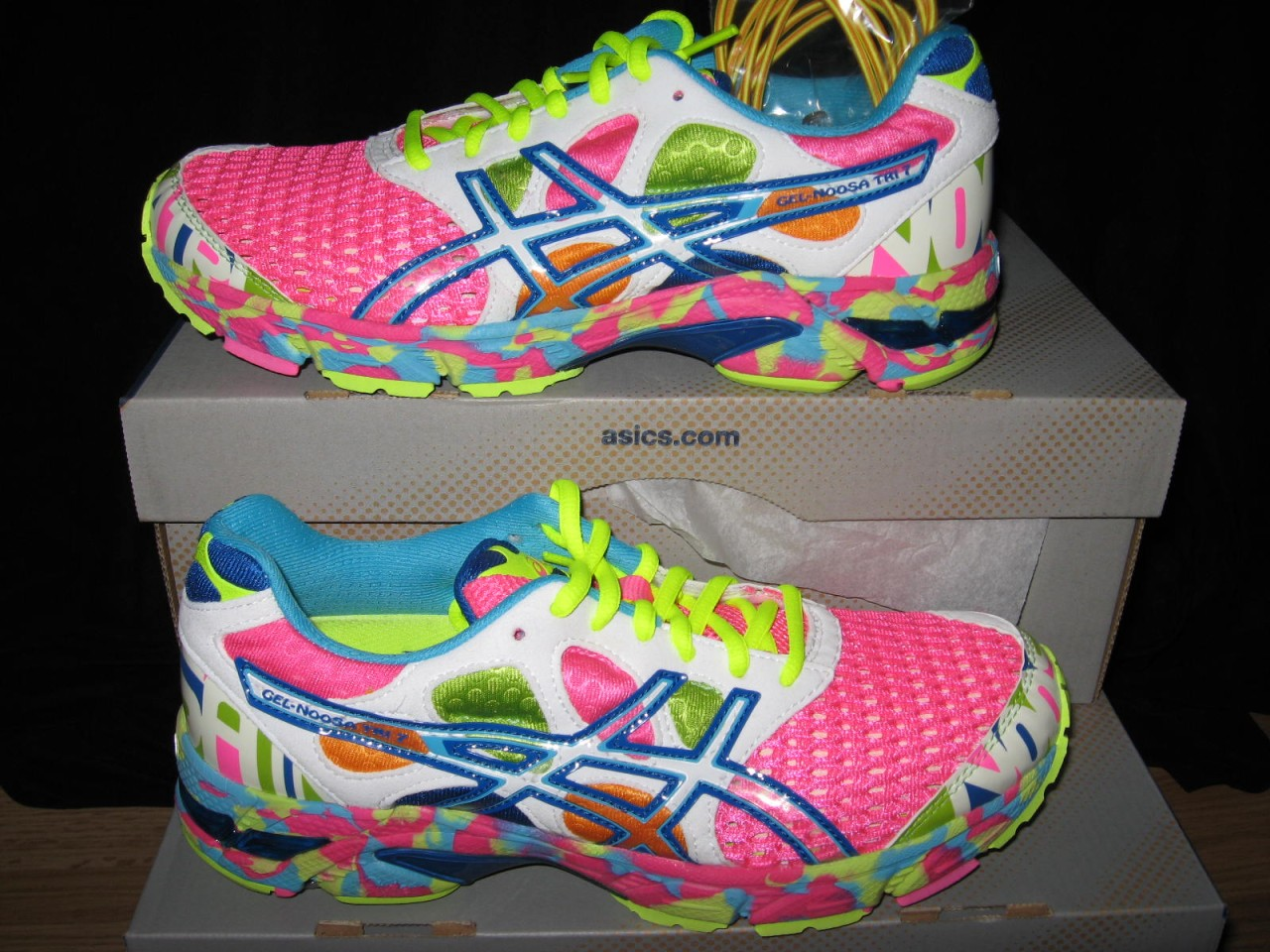 uk availability 44ac9 499b6 ... womens asics gel noosa tri 7 shoes blue white green 565192196o .