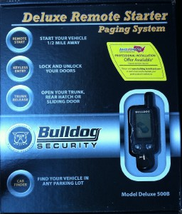 new bulldog security deluxe500b remote starter w keyless. Black Bedroom Furniture Sets. Home Design Ideas