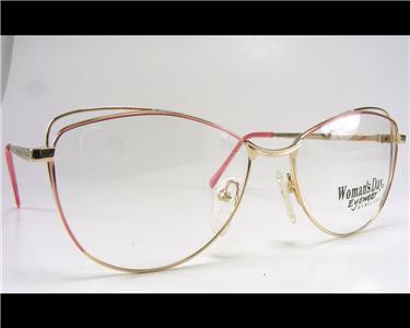 c6ca83b24e3 Vintage Rose Gold Women s Wire Rim Classic Eyeglass Frame 55-17 1980 s  Cateye