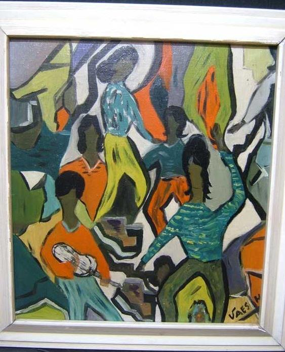 1950s-OIL-DANCING-IN-THE-JAZZ-AGE-H-VAES-ORIGINAL-ARTWORK
