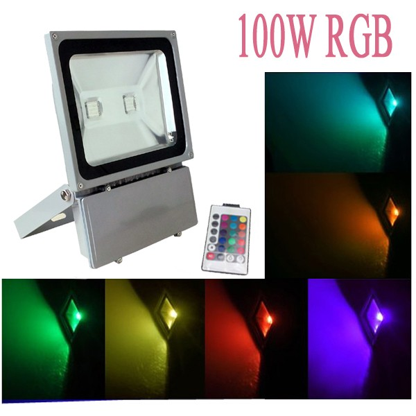 100w led fluter strahler scheinwerfer rgb farbe bulb ip65 au en blau gr n rot ebay. Black Bedroom Furniture Sets. Home Design Ideas