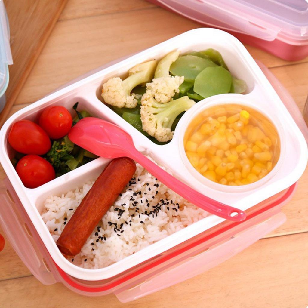 kinder brotdose bento box picknick mikrowellen fr hst cksdose lunchbox besteck ebay. Black Bedroom Furniture Sets. Home Design Ideas