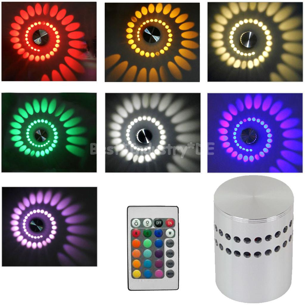 3w rgb led deckenleuchte spirale wandleuchte wandlampe deckenlampe fernbedienung ebay. Black Bedroom Furniture Sets. Home Design Ideas