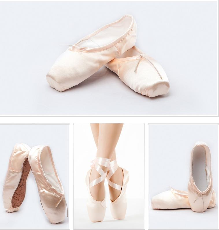 Women Satin Pink Professional Ballet Dance Shoes Girls ...