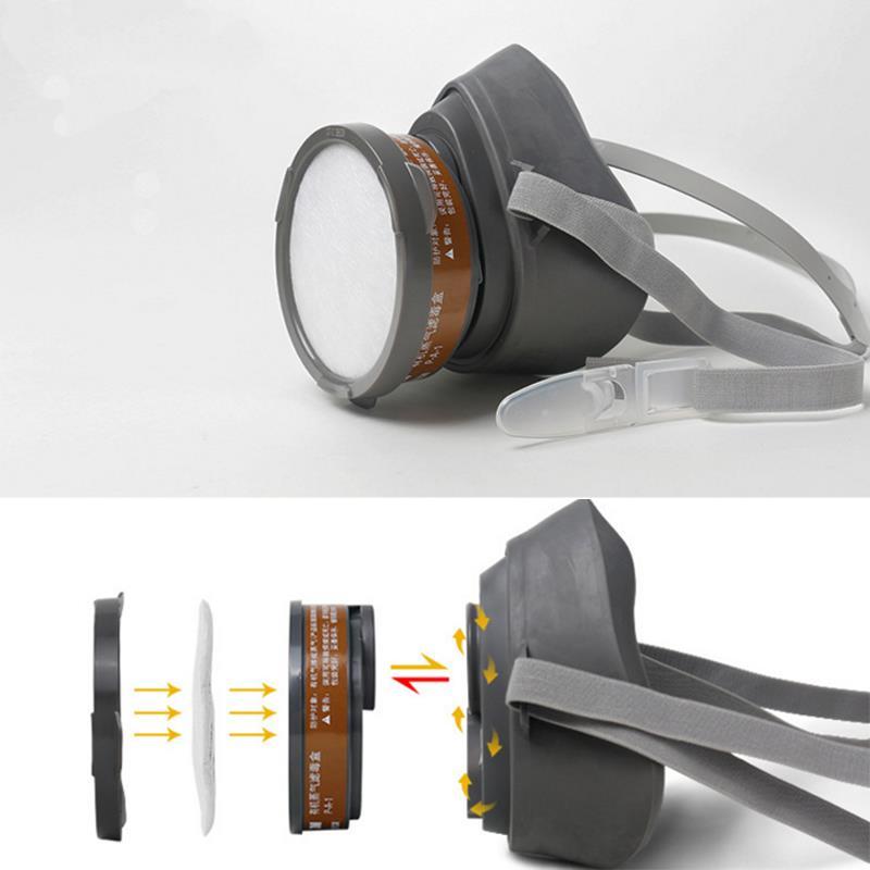3m atemschutz halbmaske gasmaske 3200 staubmaske lackiermaske wechselfiltern ebay. Black Bedroom Furniture Sets. Home Design Ideas