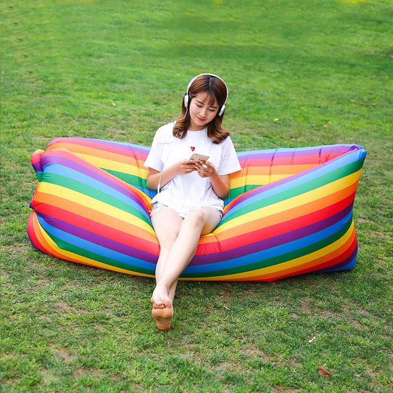 gonflable sac canap air camping dormir plage canap si ge transat chaise rainbo ebay. Black Bedroom Furniture Sets. Home Design Ideas