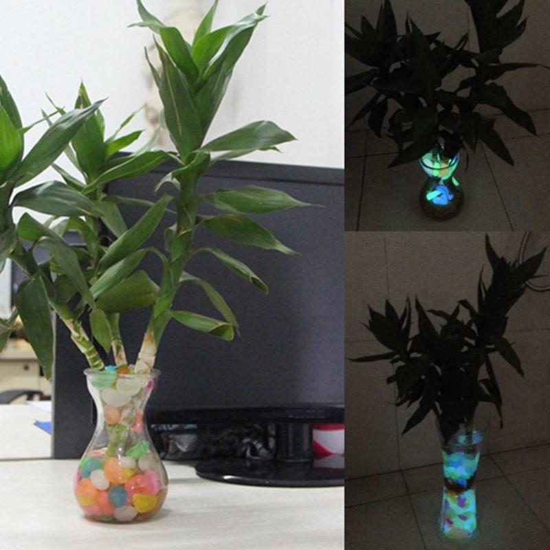 100stk leuchtsteine farbe leuchtkiesel leuchtende deko for Leuchtende zimmer deko