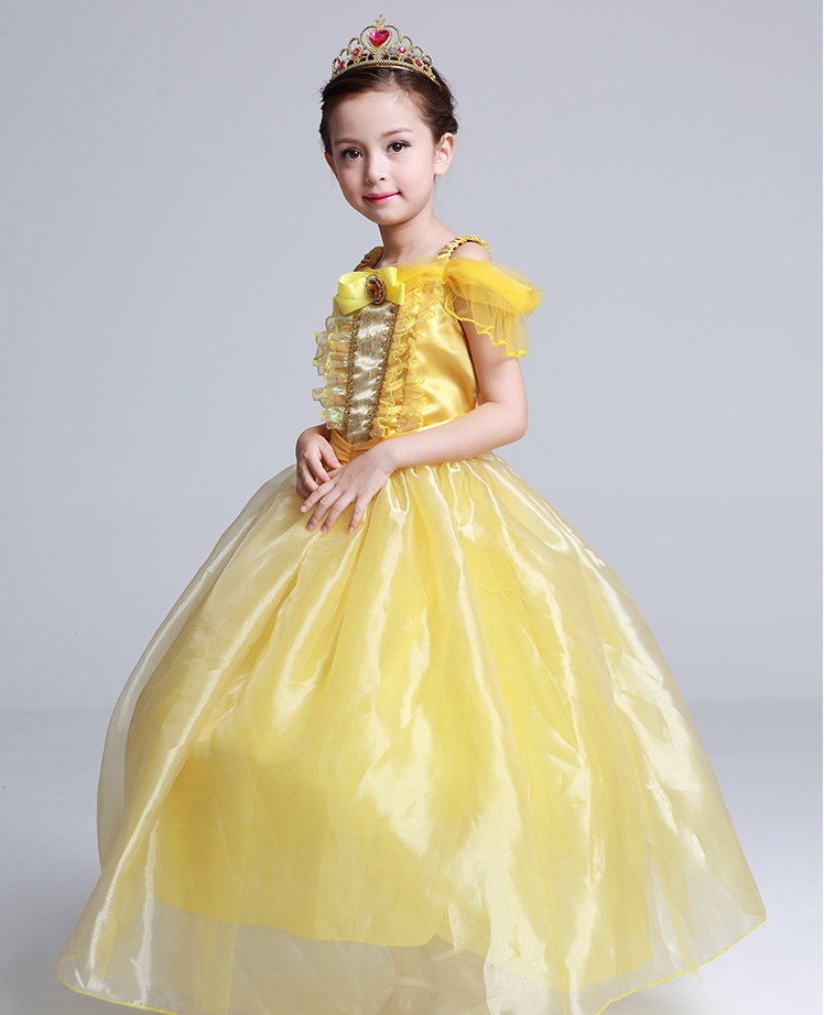 Beauty And The Beast Belle Cosplay Kostum Costume Kleid Kinder Madchen