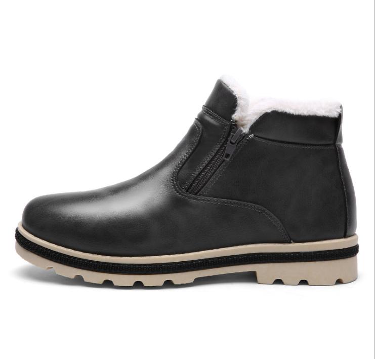 herren gef ttert boots warm stiefeletten gef ttert stiefel leder winterschuhe de ebay. Black Bedroom Furniture Sets. Home Design Ideas
